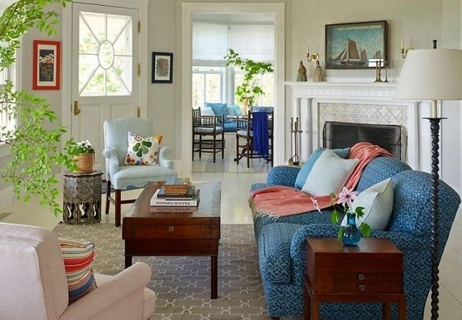Цветная гостиная в Американском стиле