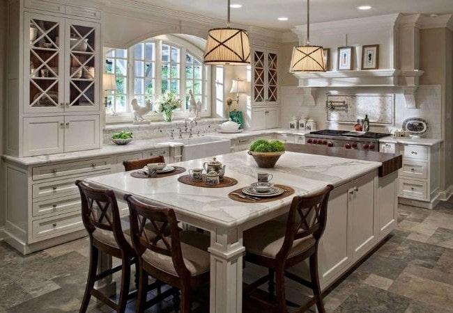 Планировка кухни в американских домах