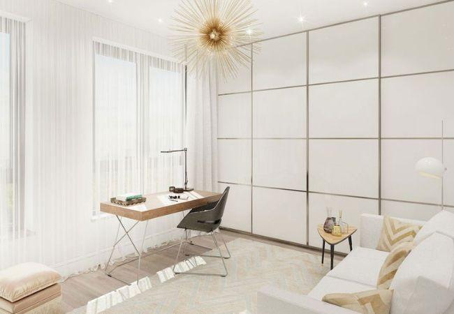 Светлая комната в нежном белом цвете