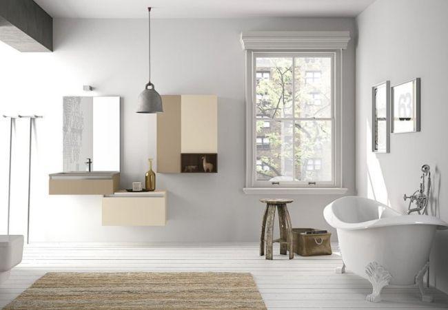 Современная белая ванная