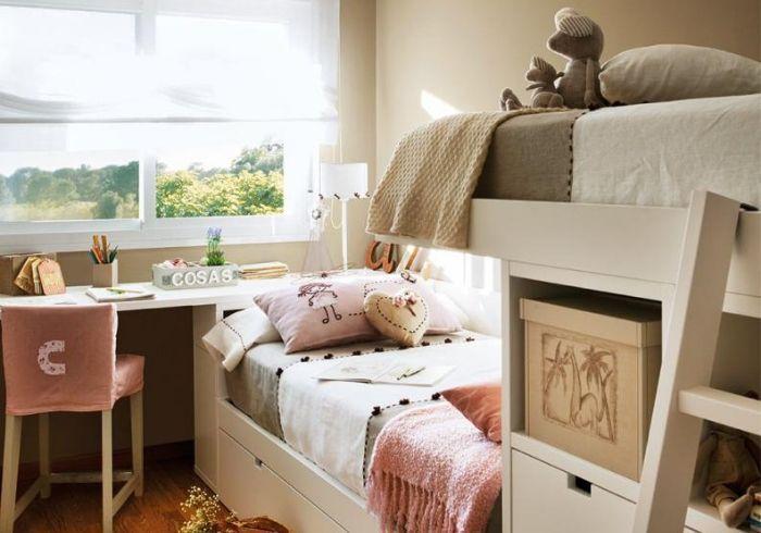 Детская для двух детей с двухъярусной кроватью