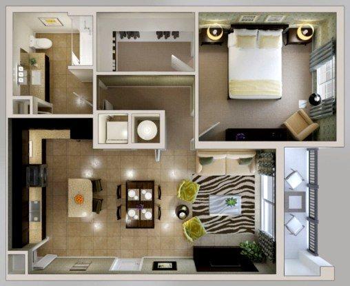 Дизайн-проект ремонта двухкомнатной квартиры с перепланировкой