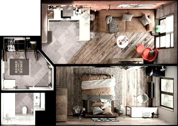 Дизайн-проект ремонта однокомнатной квартиры