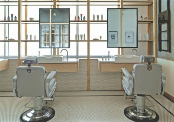 Дизайнерский ремонт парикмахерского салона для мужчин СПб