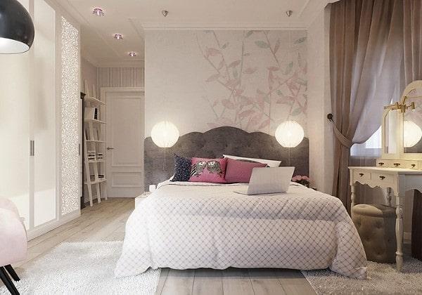 Ремонт спальни для девочки-подростка в современном стиле