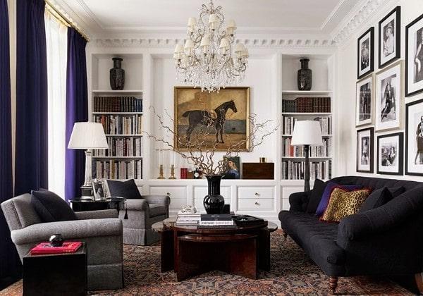 Ремонт гостиной в современном классическом стиле