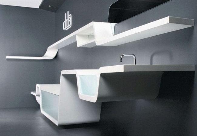 Необычная ванная в стиле Футуризм