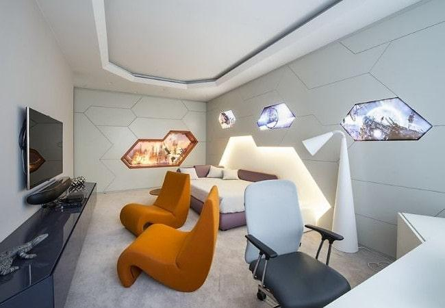 Стильная спальня в стиле Футуризм