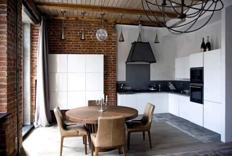Кухня в стиле лофт в сталинке СПб