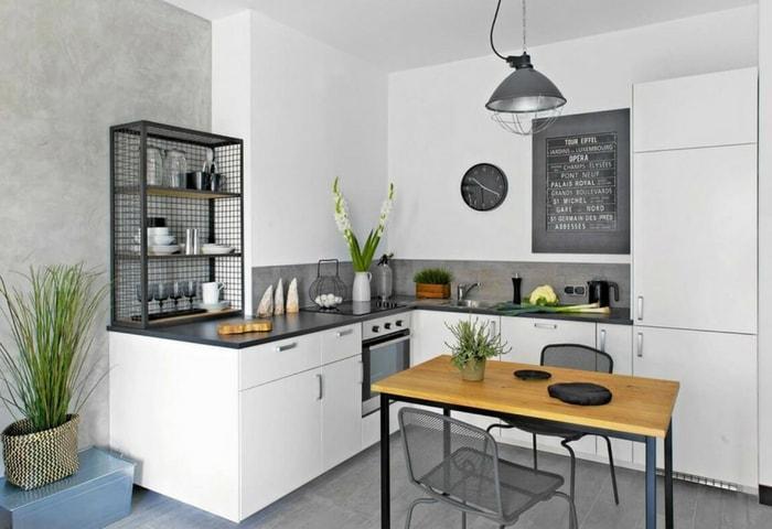 Кухня в минималистичном современном стиле