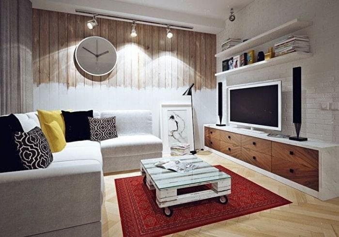Ремонт небольшой гостиной