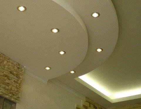Монтаж потолка из гипрока полукругом СПб