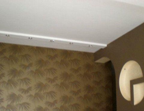 Монтаж светильников в потолок из гипрока СПб