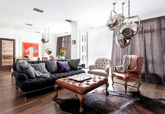 Оригинальное сочетание мебели в Неоклассике