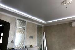 Дизайнерский ремонт комнаты, парящий потолок из гипрока