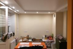 Ремонт комнаты комфорт класса, оформление потолка из гипрока с диодной подсветкой