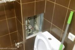 Ремонт совмещённой ванной, скрытый лючок, комфорт