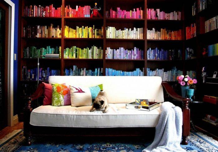 Расстановка книг по спектру градиентом