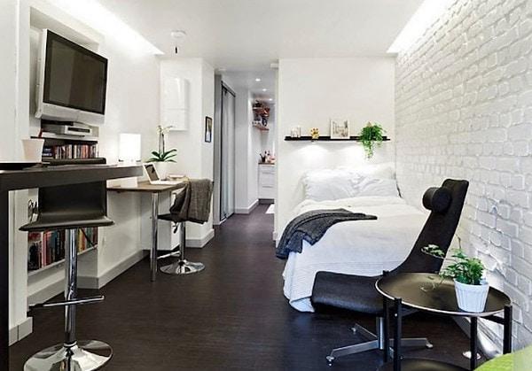 Переделка комнаты в общежитии в студию