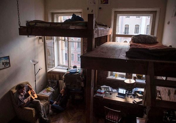 Архивные фото петербургских коммуналок
