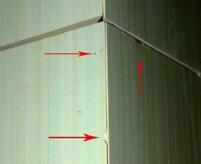При укладке плитки нужно быть очень осторожным, все сколы будут сильно заметны в результате