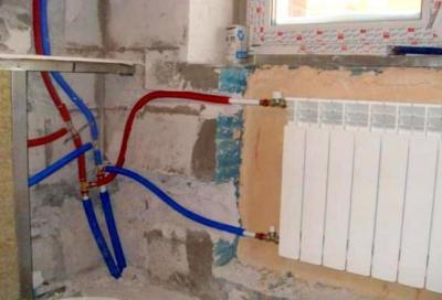 Неправильная разводка труб водоснабжения