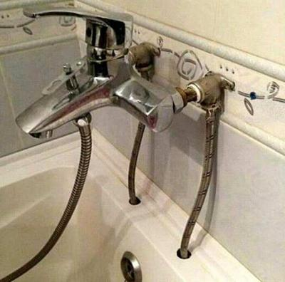 Чтоб наглядно было понятно: смеситель смешивает воду