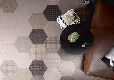Шестиугольная напольная плитка