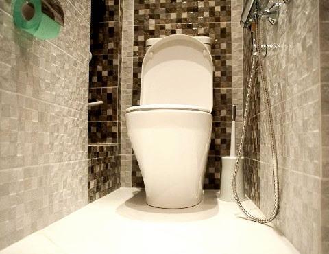 Плитка мозаика в туалете
