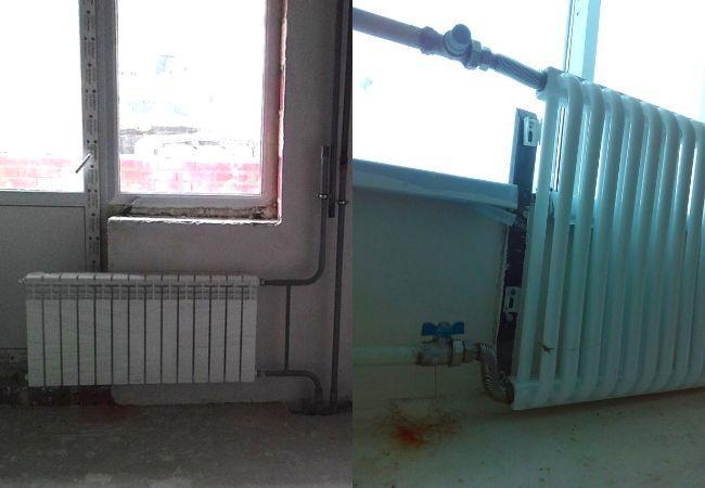 Монтаж радиаторов от застройщика