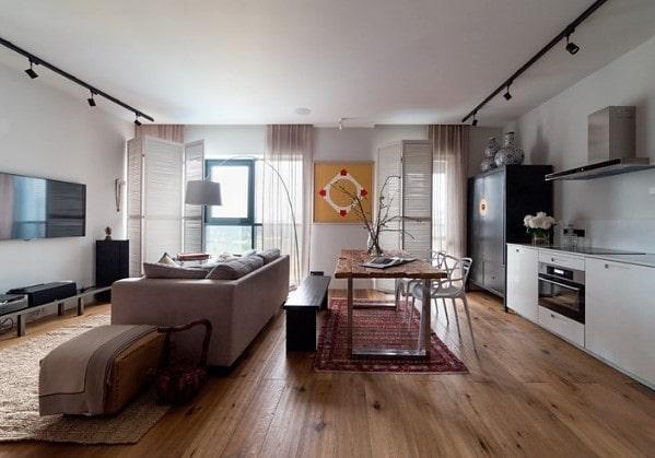 1-комнатная квартира переделана в студию