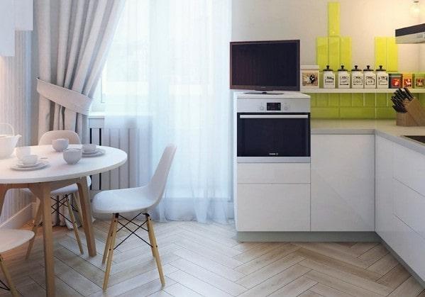 Уютная кухня в 1 комнатной квартире