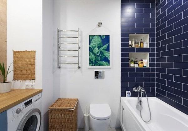 Комфортная совмещённая ванная в 2 комнатной квартире