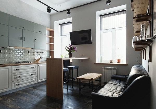 Кухня, объединённая со столовой зоной