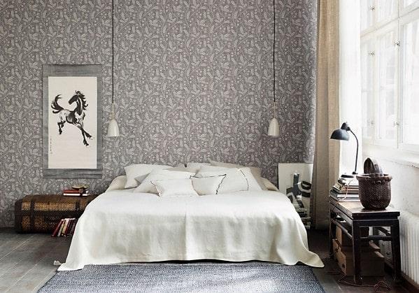 Уютная спальня в стиле Сканди в трёшке в старом фонде
