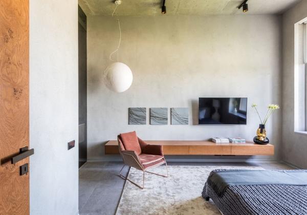 Светлый ремонт спальни в минималистичном стиле