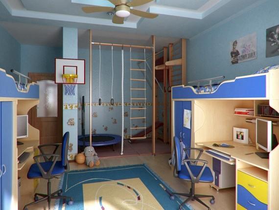 ремонт детской для двух детей
