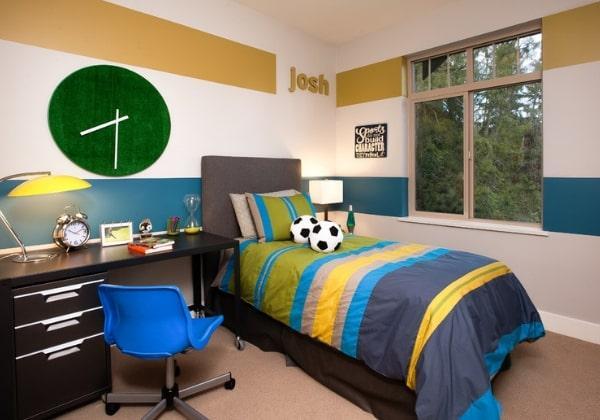 Ремонт детской комнаты для мальчика, который увлекается футболом и в целом спортом