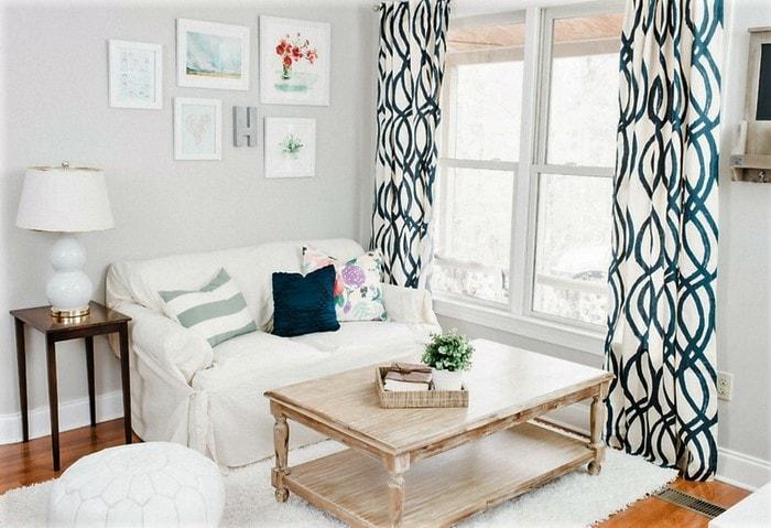 Светлый ремонт в маленькой комнате, максимум естественного света