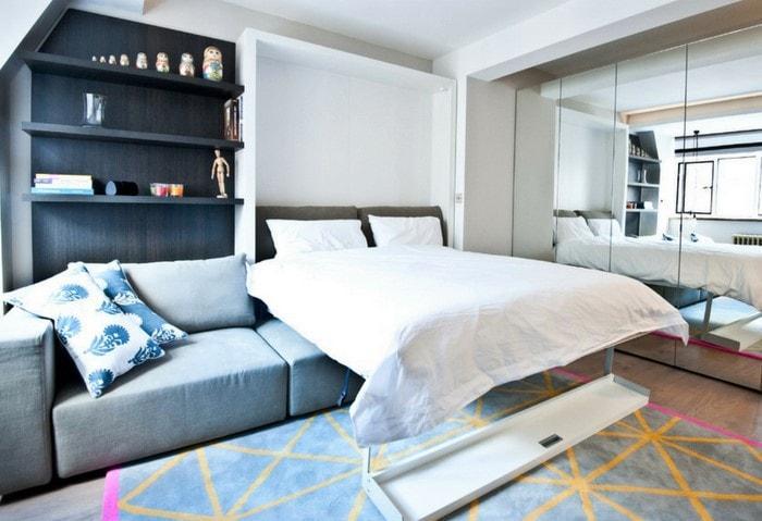 Подъёмная кровать - находка для маленьких комнат!
