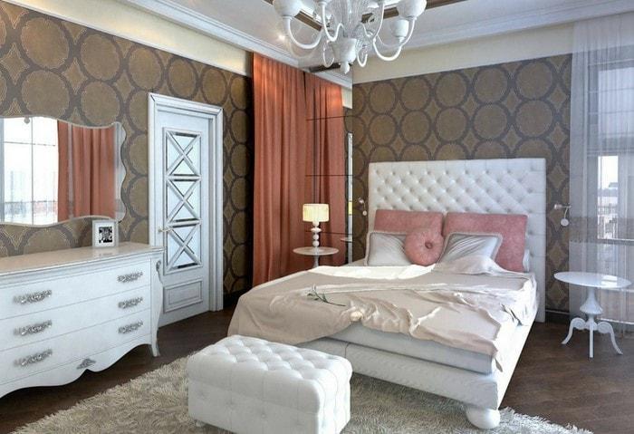 Дизайн-проект ремонта спальни в классическом стиле