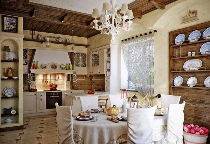 Ремонт кухни по дизайн-проекту, стиль Прованс