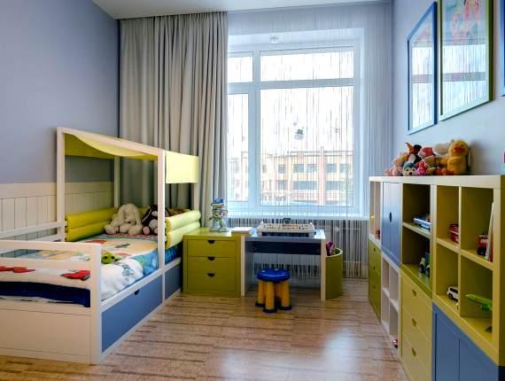 ремонт в детской комнате пробковый пол
