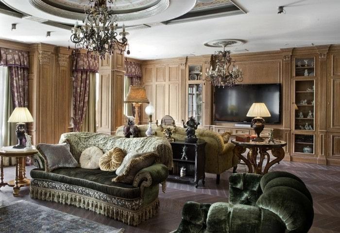 Ремонт зала в классическом стиле