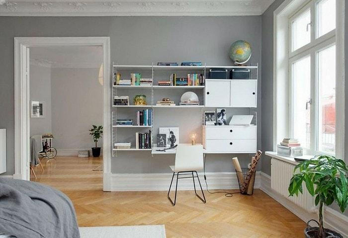 Монохромные и чёрно-белые интерьеры выходят из моды, популярность набирает бело-серая цветовая гамма