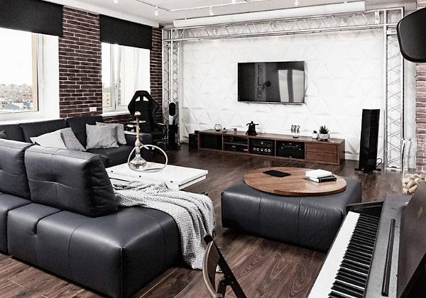 Ремонт гостиной в стиле Индастриал