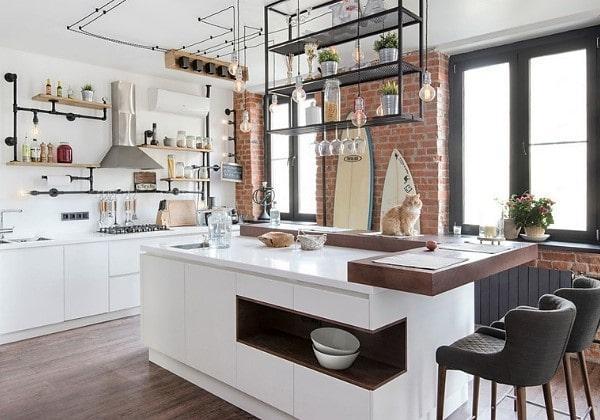 Ремонт кухни в стиле Индастриал