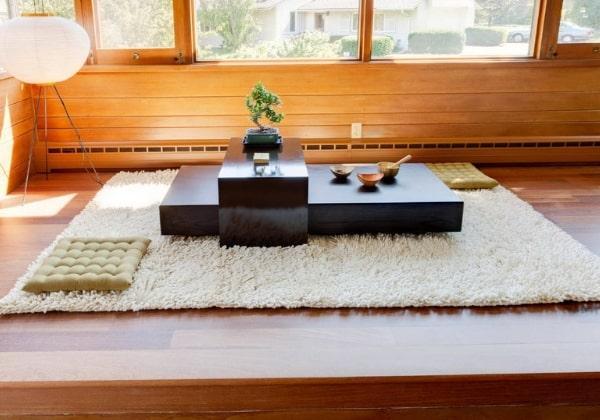 Современный вариант оформления столика для японских чаепитий