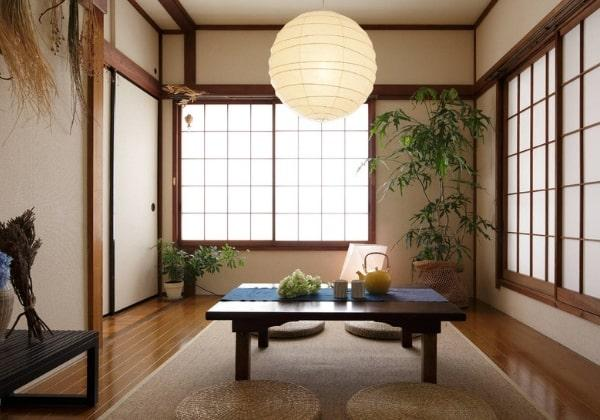 Сдержанные цвета, органичное освещение, натуральные фактуры и живые растения - естественные атрибуты Японского стиля