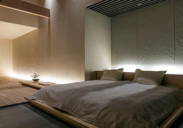 Спальня в Японском стиле, современный вариант ремонта с соблюдением канонов направления
